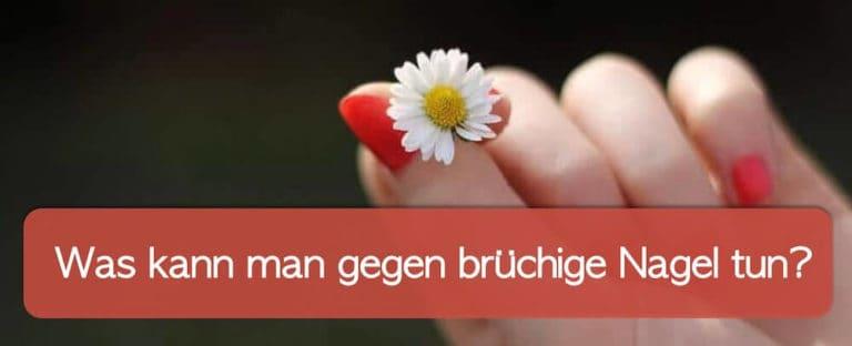Hand als Symbol für brüchige Nägel