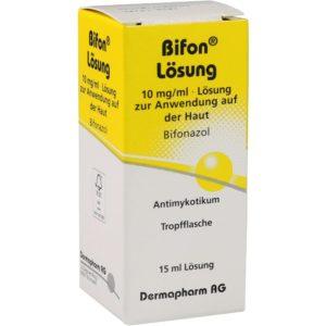 Bifon Lösung wird bei Pilt auf der Haut angewendet