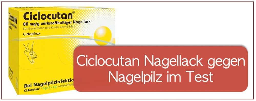 Ciclocutan Nagellack gegen Nagelpilz